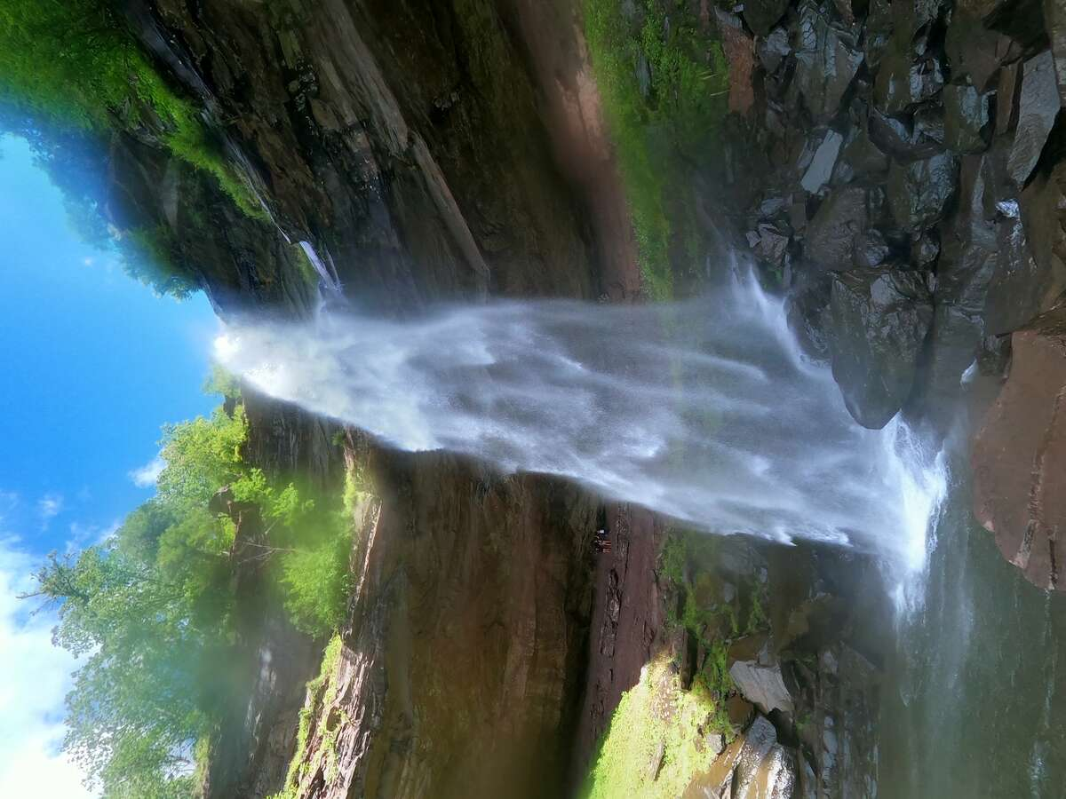 A view from the bottom of Kaaterskill Falls in the Catskills.