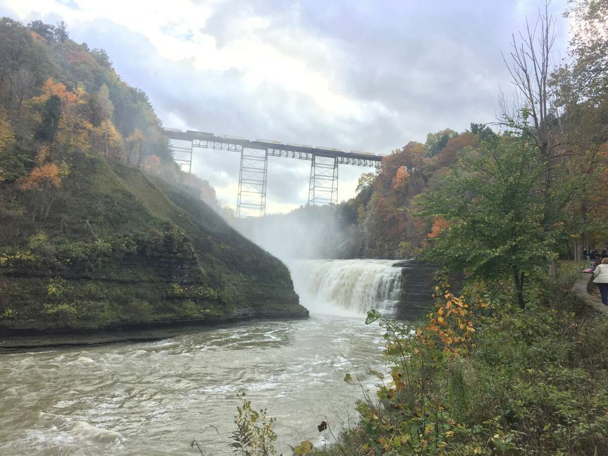 The waterfalls in Letchworth State Park.
