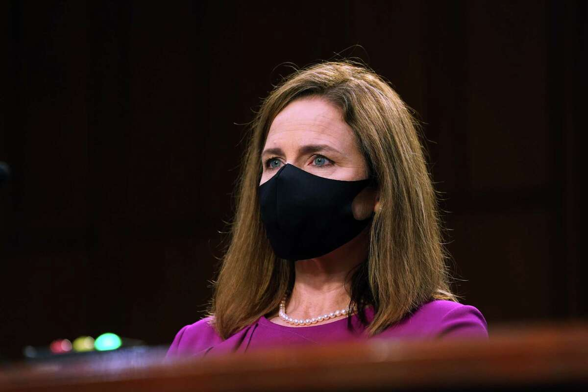 Supreme Court Justice nominee Judge Amy Coney Barrett during the Senate Judiciary Committee confirmation hearing for Supreme Court Justice in Washington, D.C. Monday.