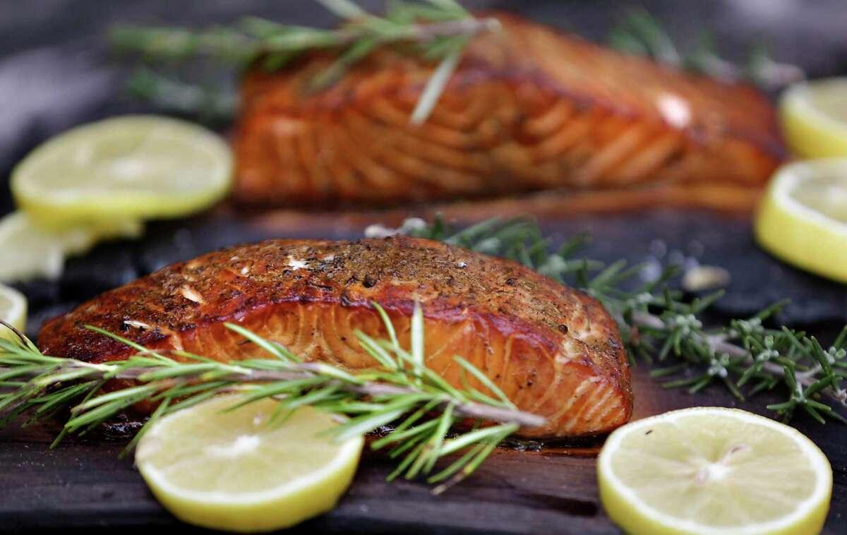 Grilled Cedar Plank Salmon