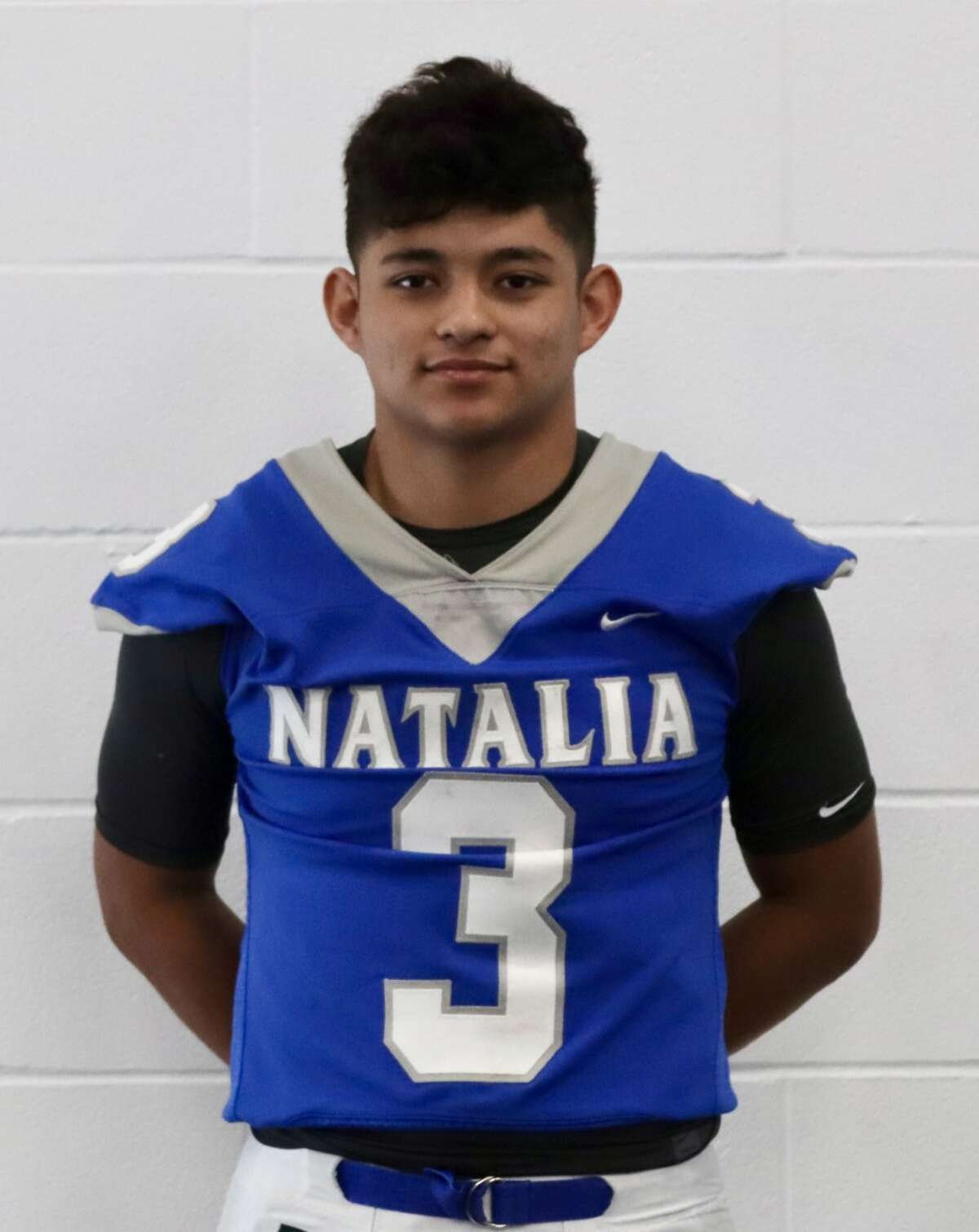 Adrian Vasquez is a linebacker and running back for Natalia.