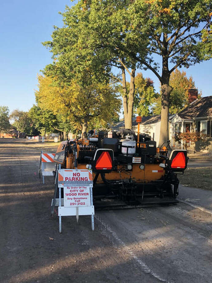 Rotomilling and resurfacing work on Metzger Avenue in Wood River. City of Wood River crews will be paving this week and next week as part of the city's annual street paving program. Photo: For The Telegraph
