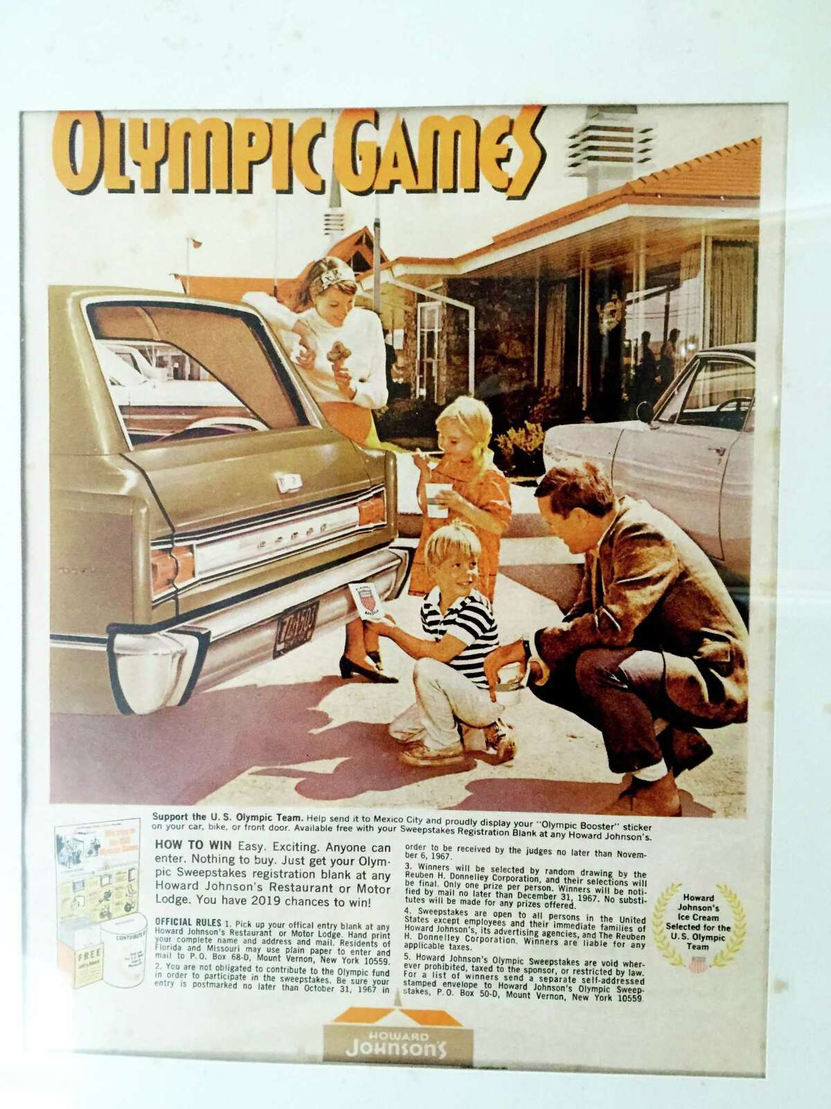 New Canaan's new Administrative Officer Tucker Murphy was in TV commercials as a child. A public relations agent for a model who lived next door to her was looking for two children for a Howard Johnson's Olympics promotion. She and her brother were chosen. The picture was contributed October 2020.