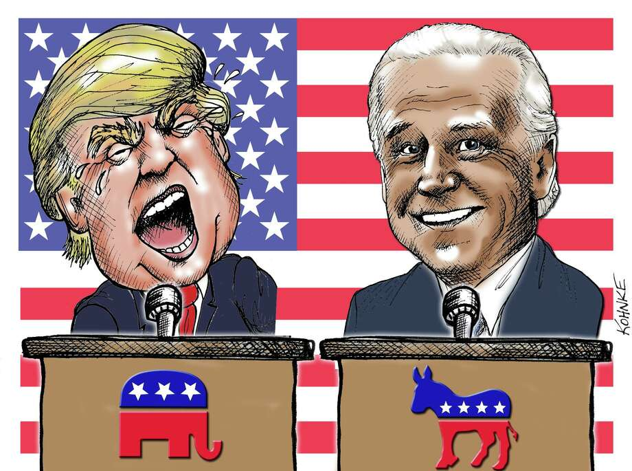 Trump-Biden debate illustratioon Photo: Jennifer Kohnke / Jennifer Kohnke