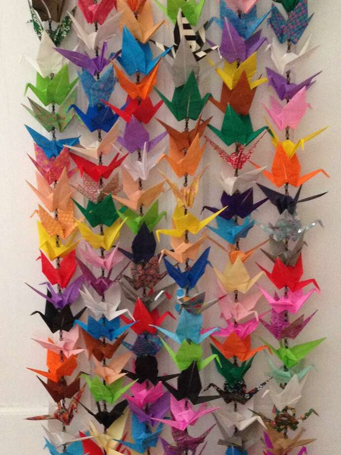 The Torrington Historical Society presents an exhibit of hand-folded paper cranes, starting Oct. 17. Photo: Contributed Photo
