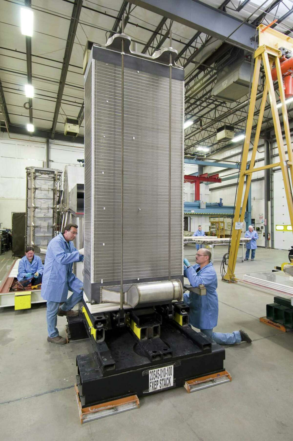 A file photo of a fuel cell membrane stack produced by Danbury, Conn.-based FuelCell Energy. (Press photo via FuelCell Energy)