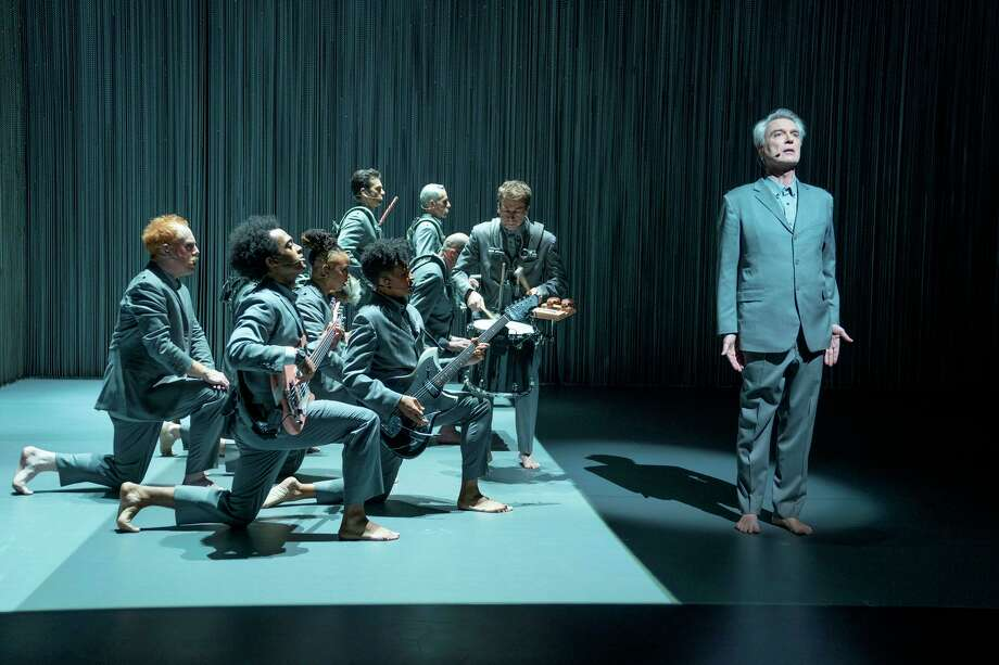 "A concert from singer David Byrne, right, is the focal point of Spike Lee's  ""David Byrne's American Utopia."" Photo: Associated Press, HBO / HBO"