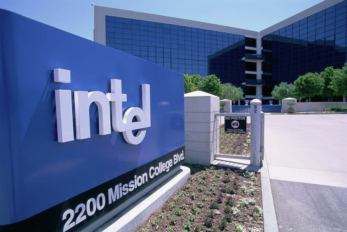 File photo of Intel Corporation's Silicon Valley headquarters.