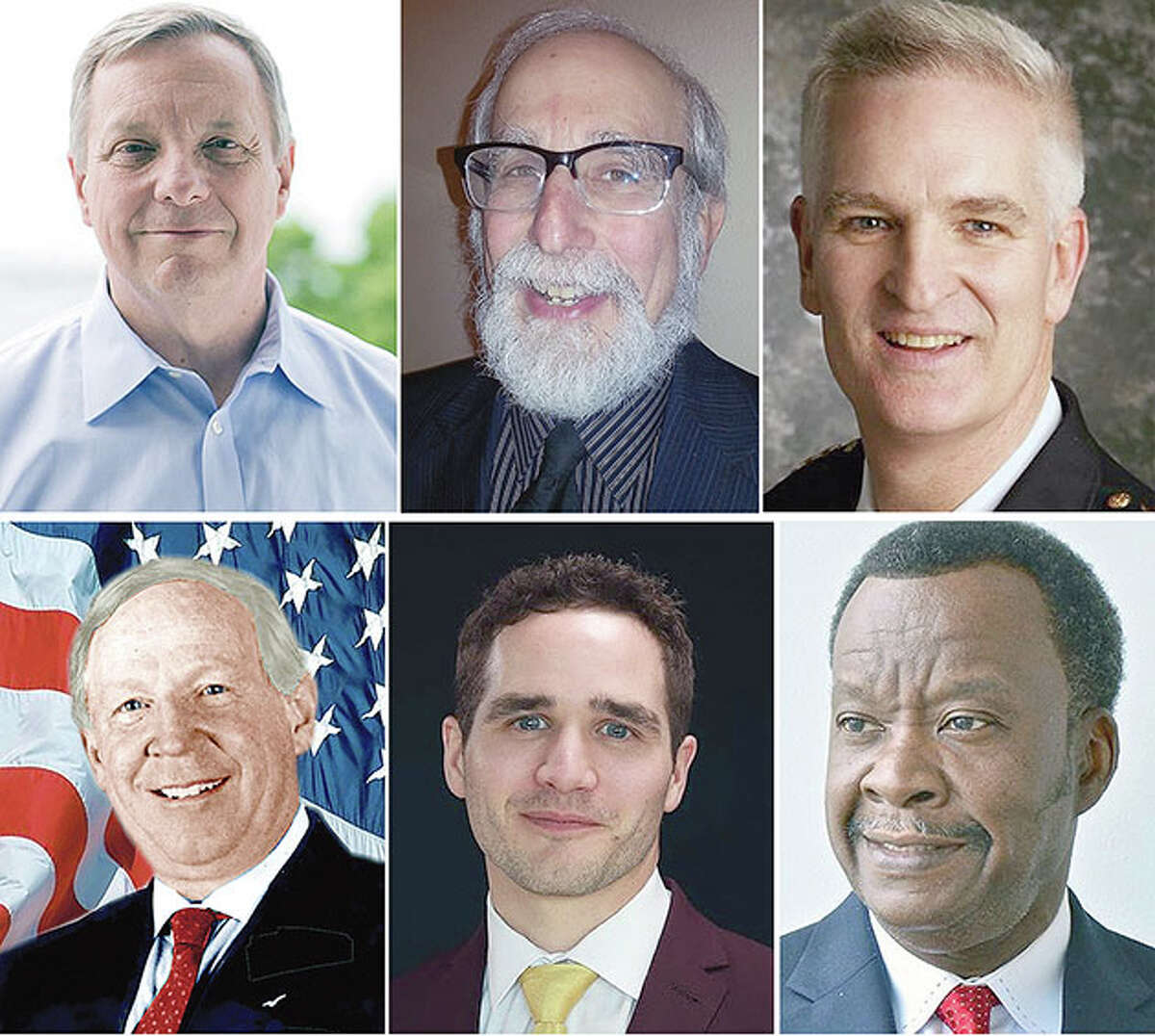Six people are vying for the U.S. Senate seat now held by Richard Durbin.