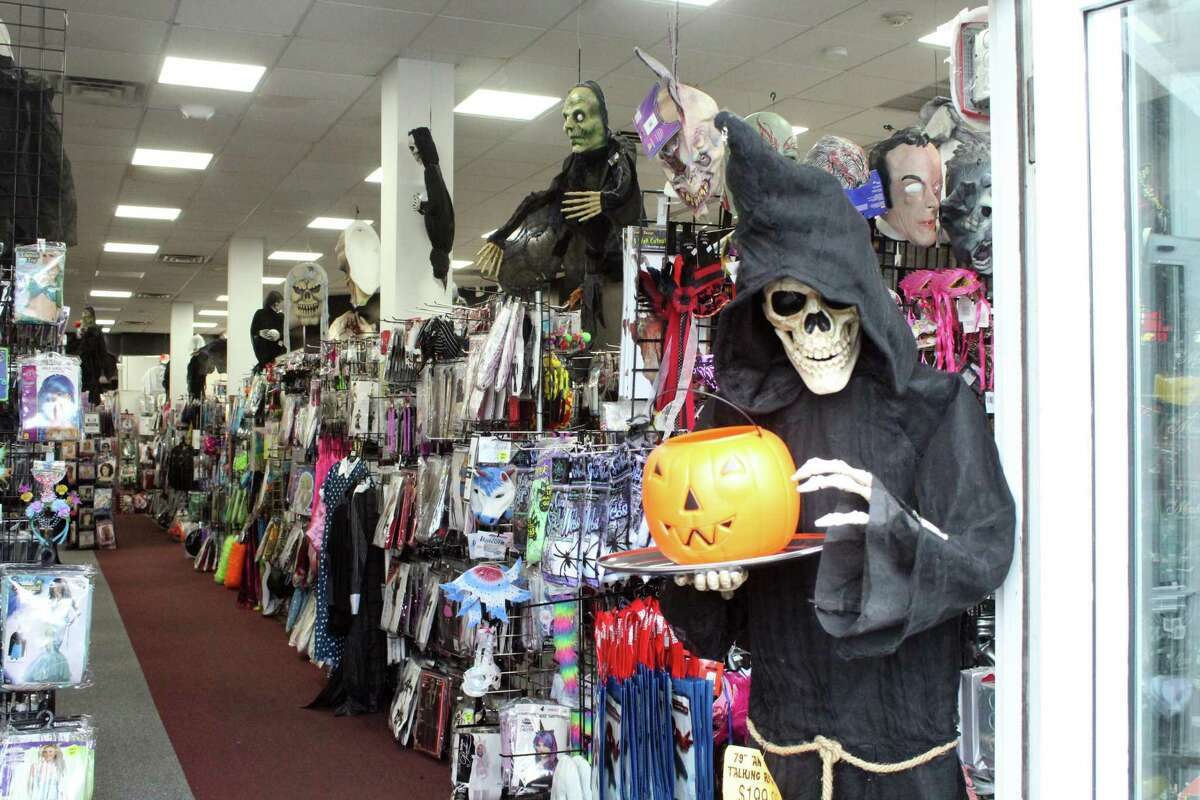 Spooky Town has reopened in Westport, offering a wide array of Halloween decorations and costumes. Taken Oct. 12, 2020 in Westport, Conn.