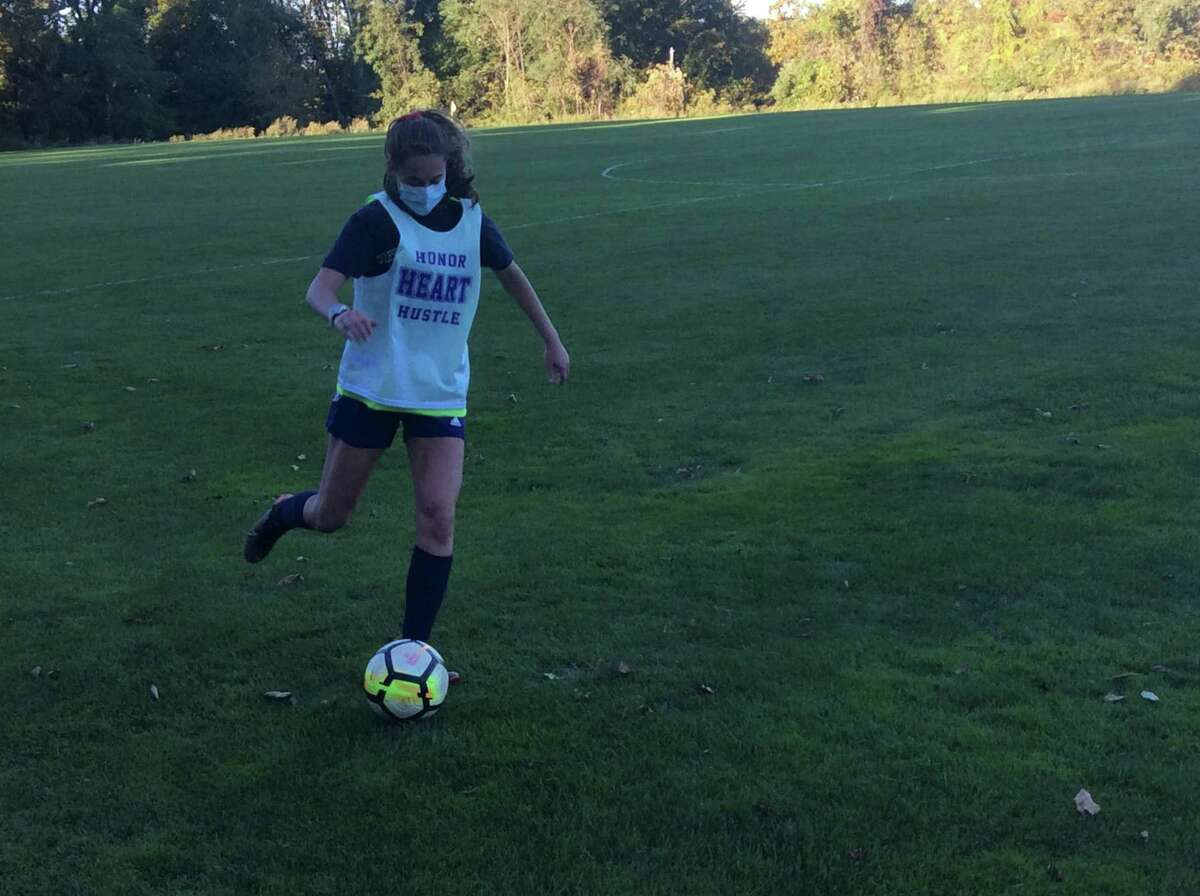 Alana Frederick is a senior captain on the Sacred Heart Greenwich soccer team. She will play soccer at Carnegie Melon next season.