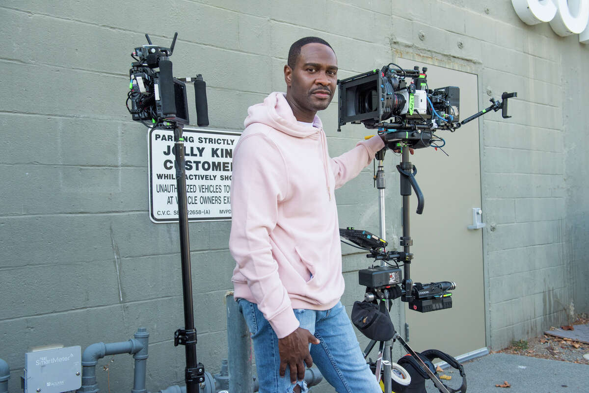 Writer, director and star Brian Hooks on the set of