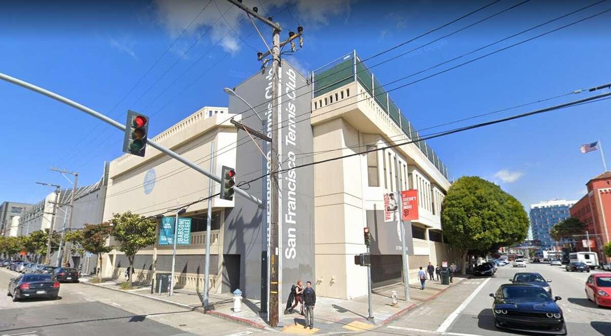 A Google Maps image of Bay Club San Francisco Tennis, also known as the San Francisco Tennis Club.