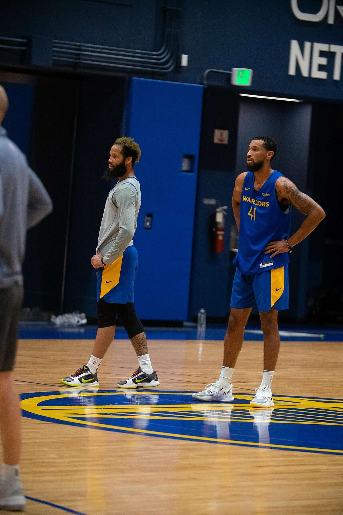 Guard Ryan Taylor (right) impressed at the Warriors' recent minicamp.