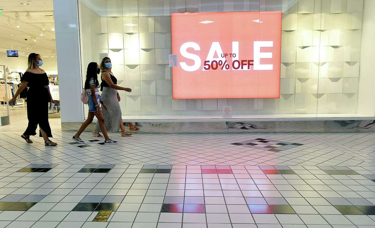 Shoppers walk through the Valley Mall in Halfway, Md., in August.