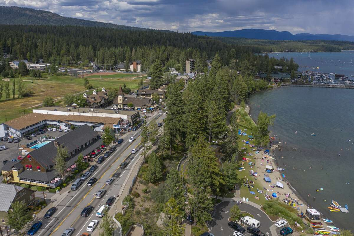 Tahoe City Crowds.