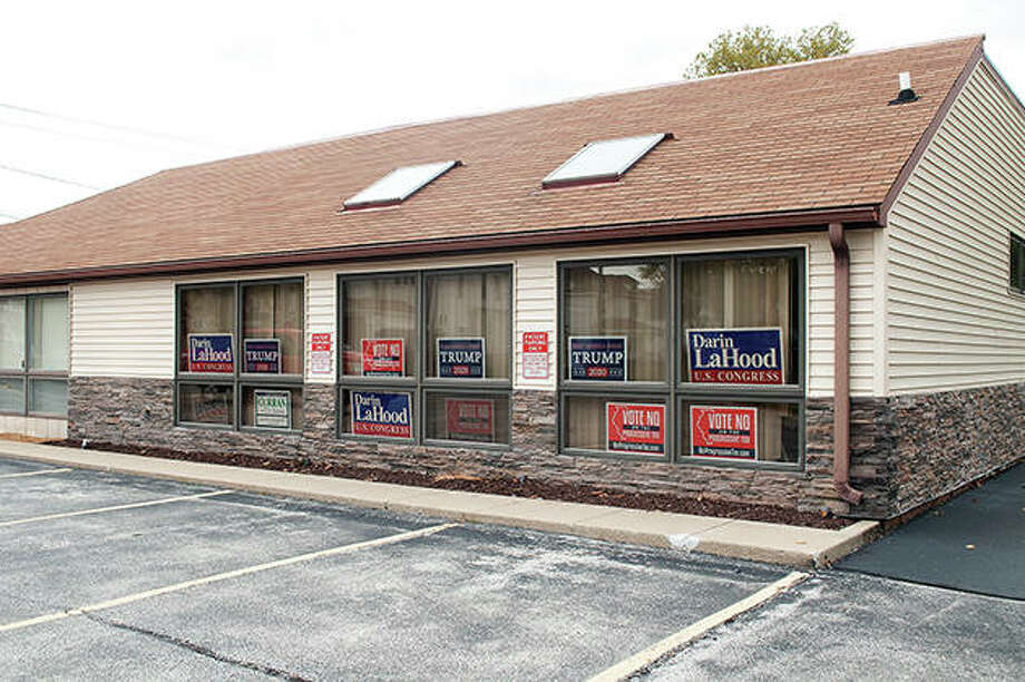 The Morgan County Republican headquarters is at 360 W. College Ave. Photo: Darren Iozia | Journal-Courier