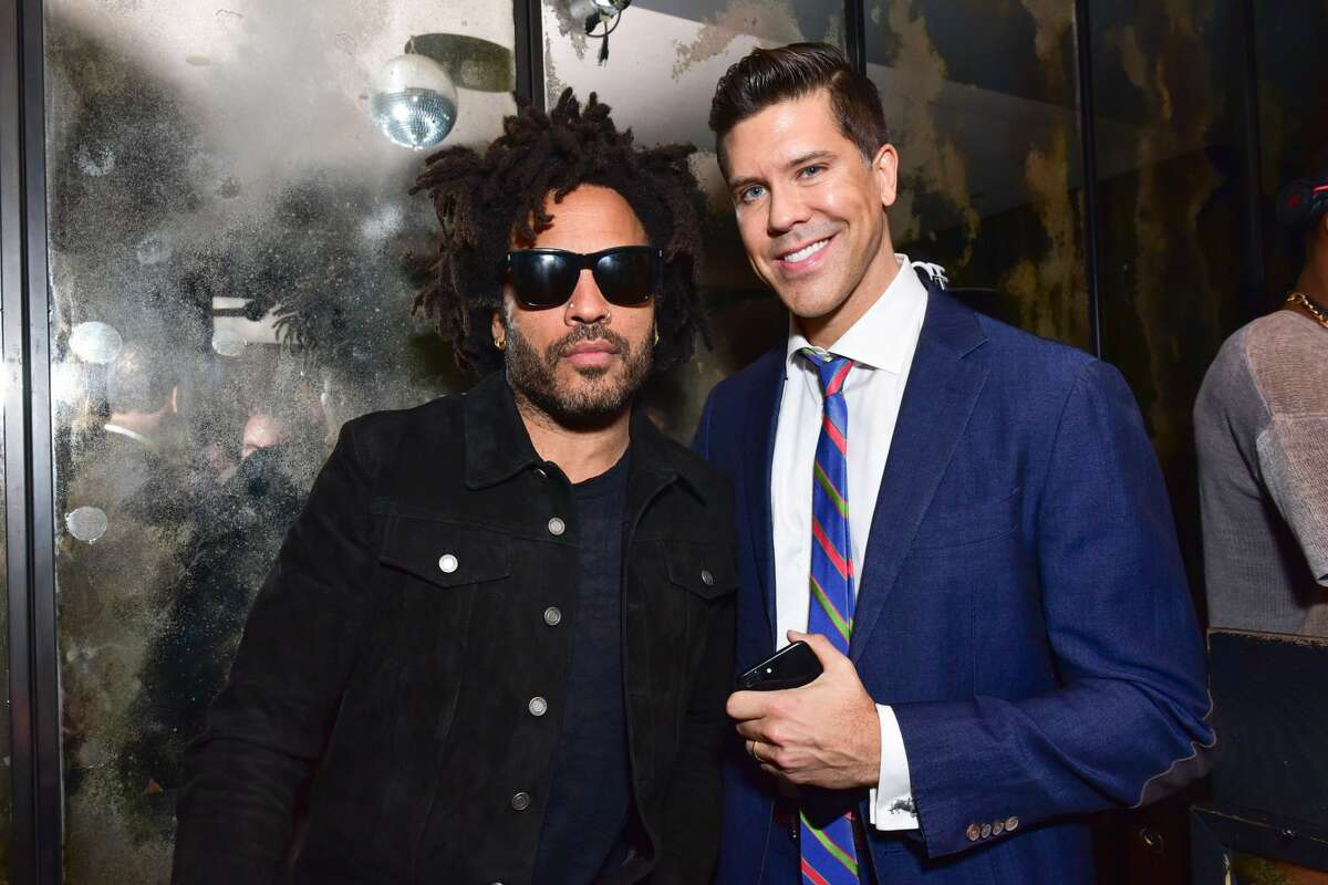 Lenny Kravitz and Fredrik Eklund attend 75 Kenmare Sales Launch VIP After Party Hosted by Fredrik Eklund and Lenny Kravitz at The Blond at 11 Howard Hotel on February 23, 2017 in New York City.
