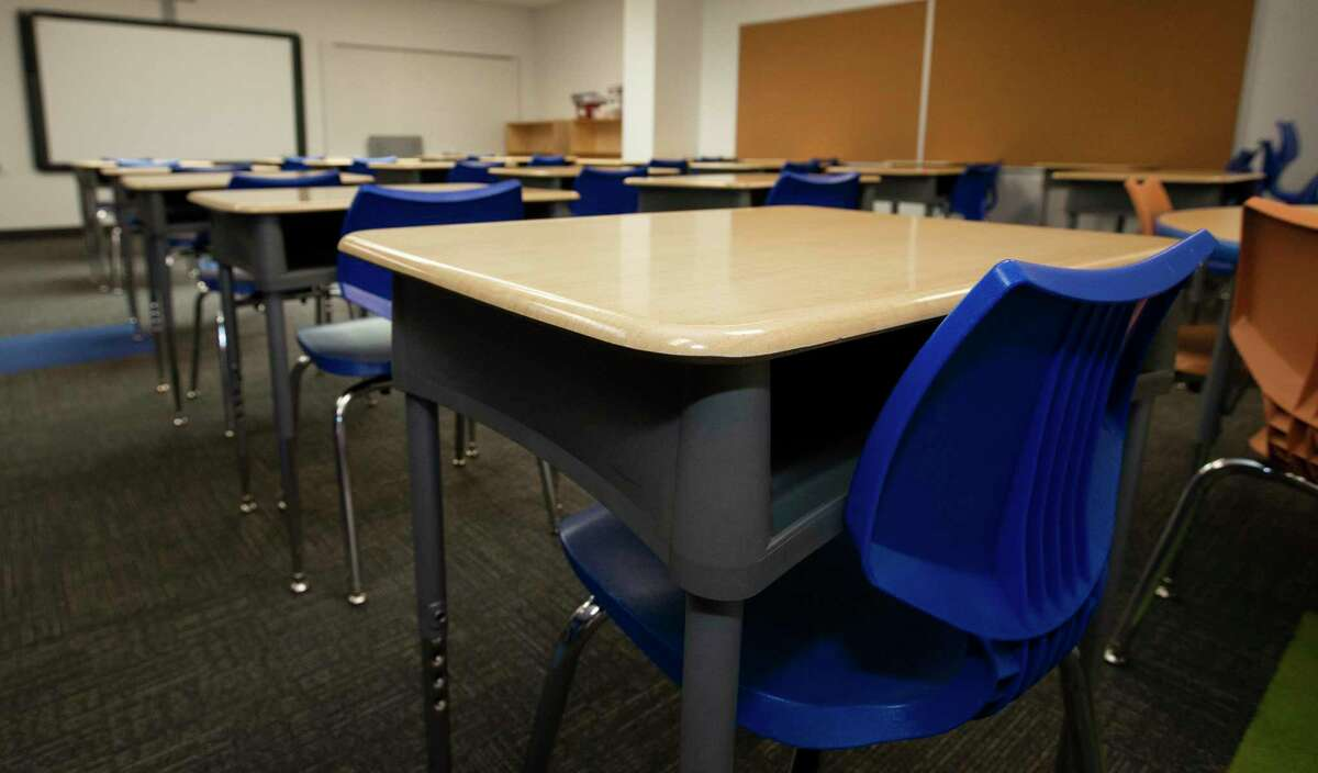 Before COVID-19, 30 studetns would be sitting in a classroom, as shown in this photograph Thursday, July 23, 2020, in Houston. KIPP Texas Connect campus prepares to have 9 to 12 students in a classroom for in-person learning this fall.