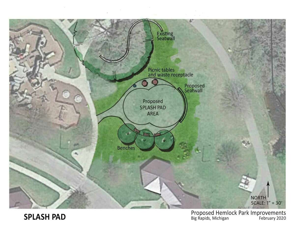 """To learn more about the Hemlock Park Improvement Project, visit the city of Big Rapids website, cityofbigrapids.org, or find us on Facebook at """"Hemlock Park Improvement Project.""""(Courtesy photo)"""