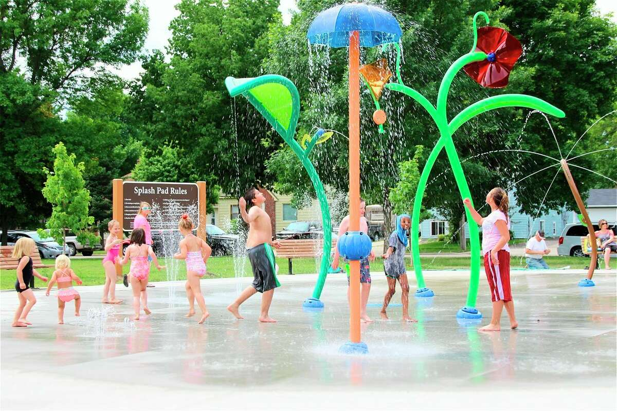 TheHemlock Park Splash Pad will be built in the heart of the city, providing easy access for residents and visitors to Big Rapids. Its location will bring people downtown to shop, eat, and explore. (Courtesy photo)
