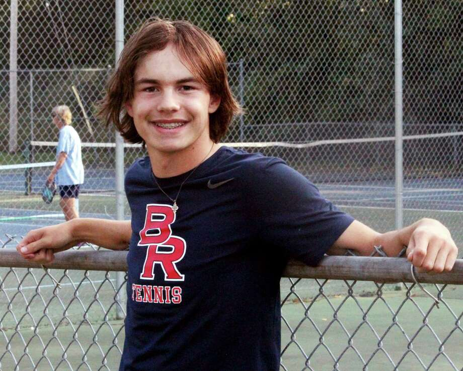 Tyler Bigford will be at No. 3 singles for Big Rapids this weekend. (Pioneer photo/John Raffel)