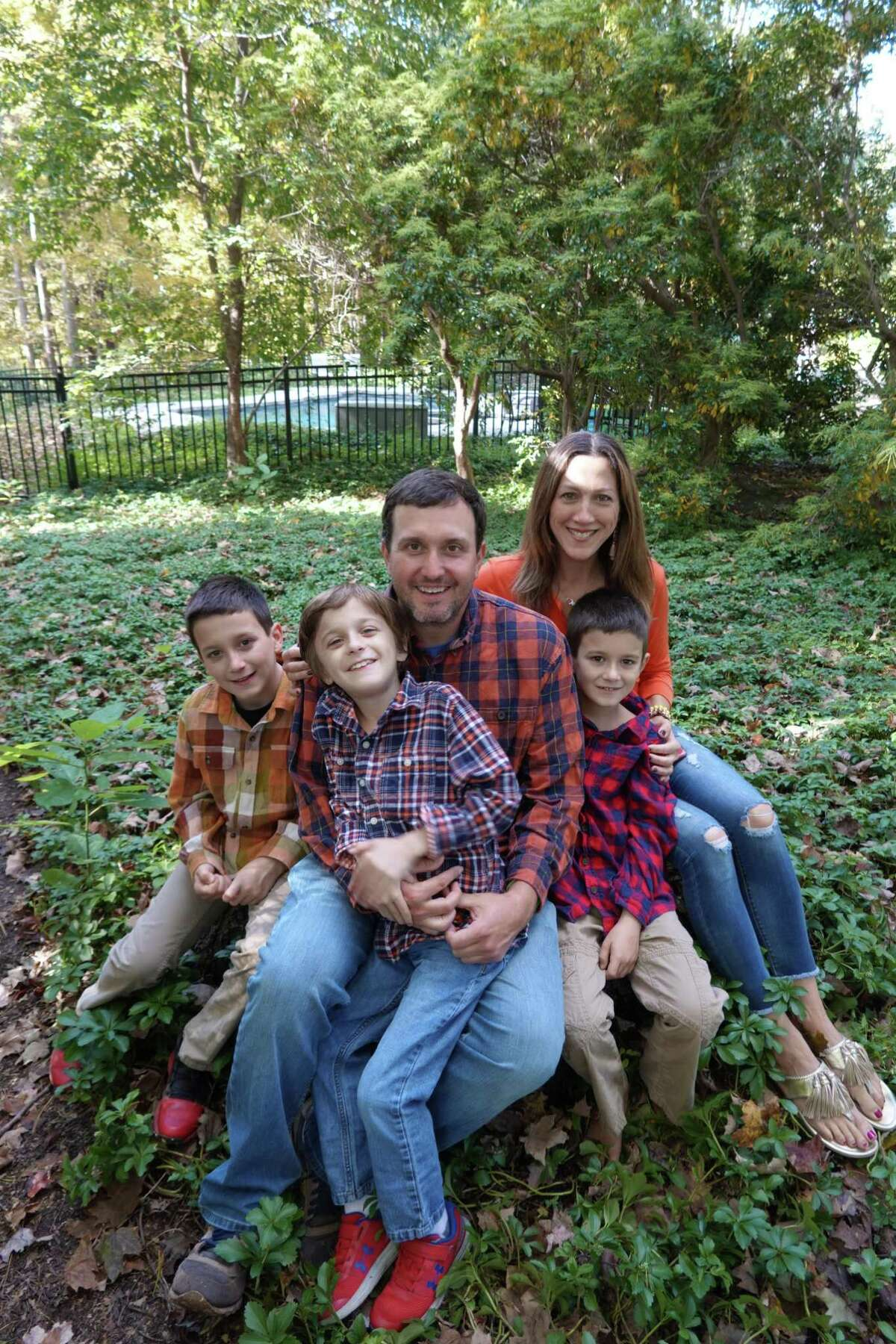The Curran family: from left, Kyle, Conner, Chris, Jessica and William.