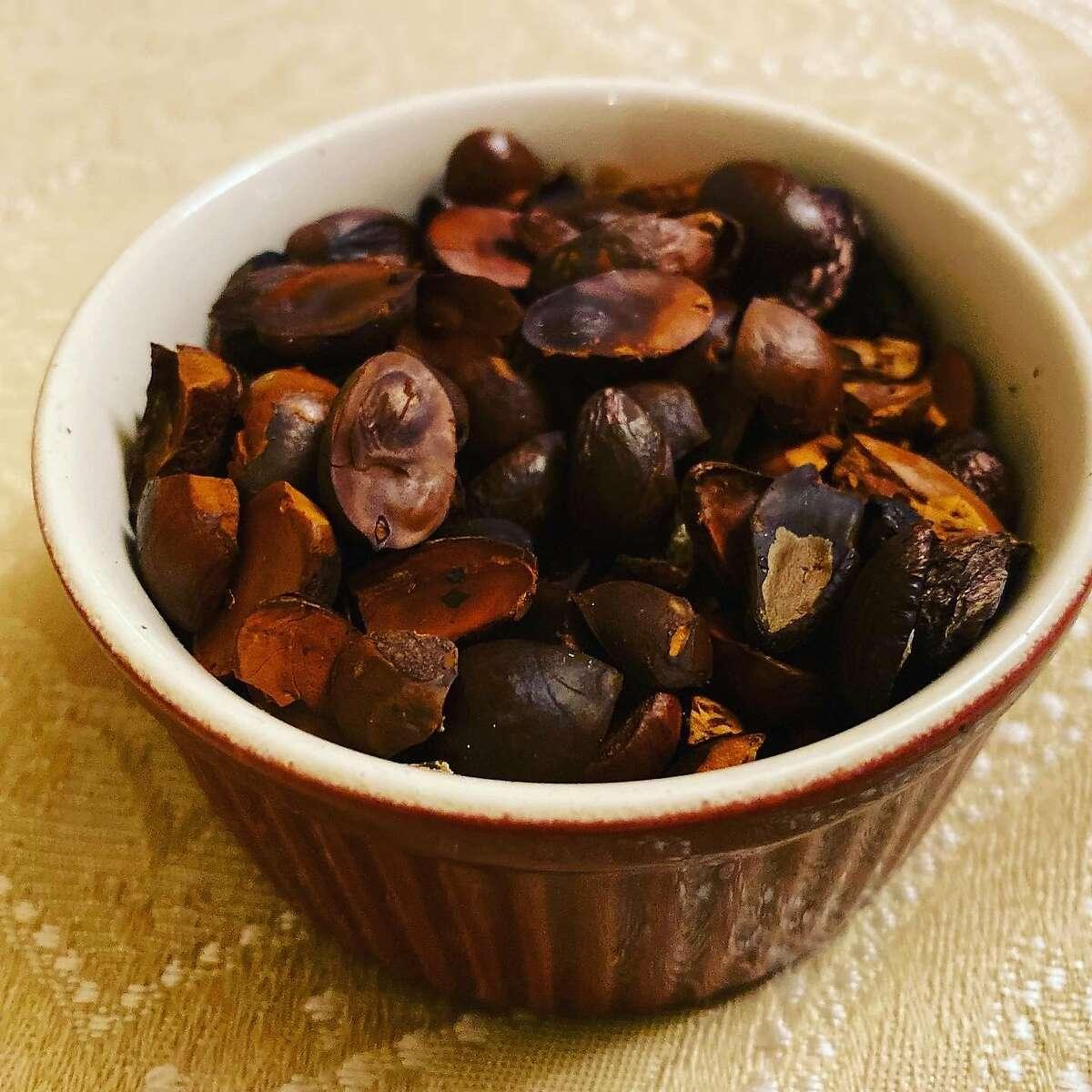 A close-up look at Bay nuts.