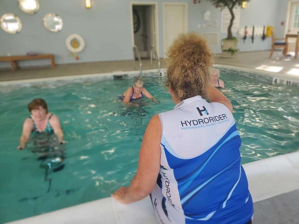 Aquatic exercise atthe Summit at Eastwyck Senior Independent Living Community. Local older adult living communities have seen an influx of residents, despite the pandemic.
