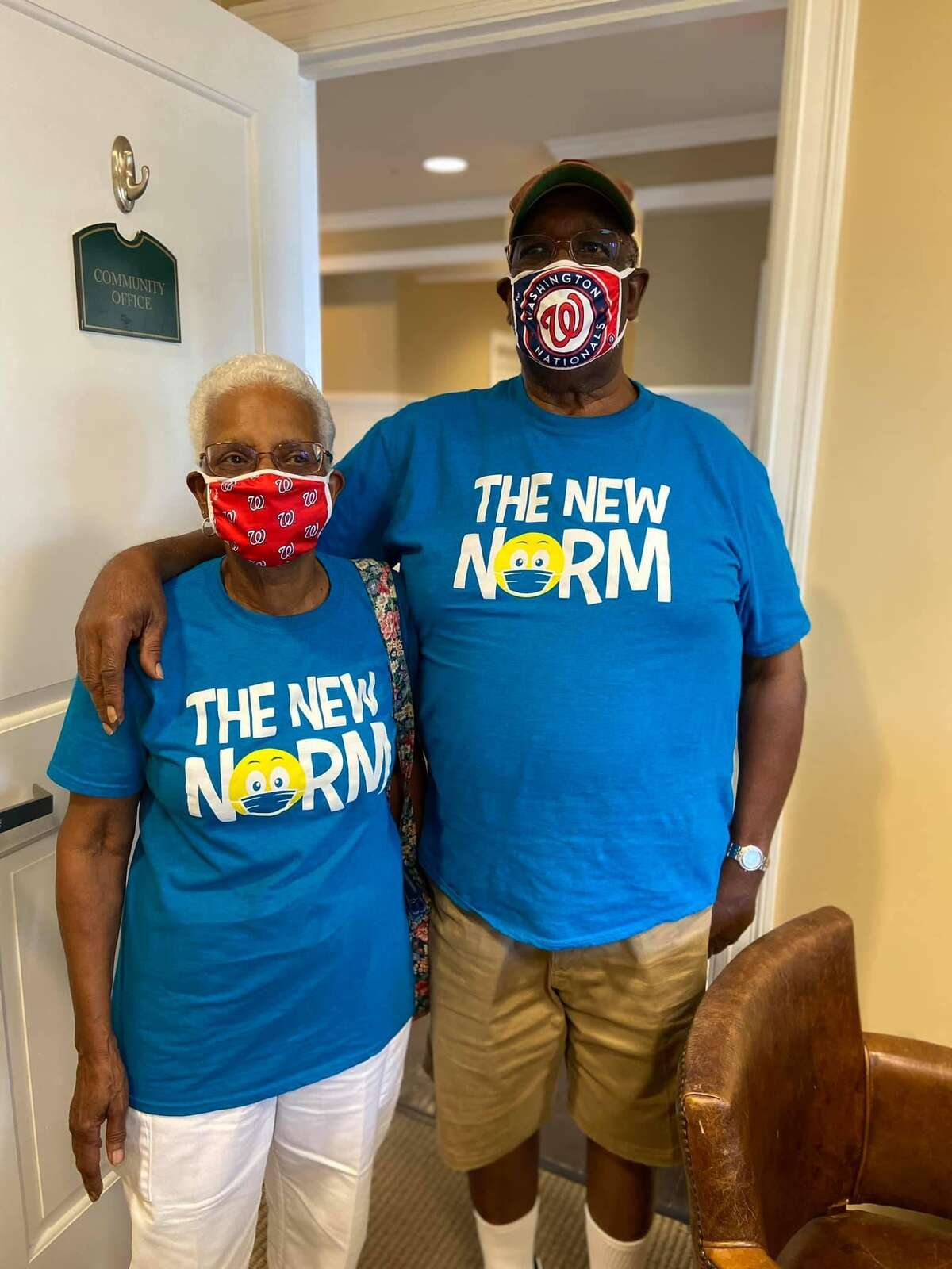 The message on their t-shirts says it all for this couple atthe Summit at Eastwyck Senior Independent Living Community. Local older adult living communities have seen an influx of residents, despite the pandemic.