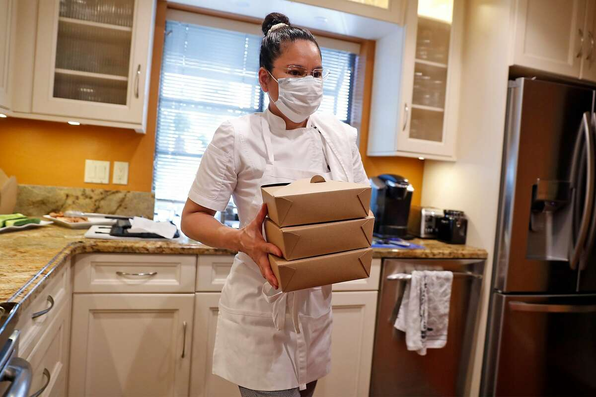 Home kitchen entrepreneur Cheska Kistner makes food at her home in Benicia. Kistner is among as many as 100 entrepreneurs waiting for Solano County to finish implementing a law that would allow them to establish legal home kitchen businesses.