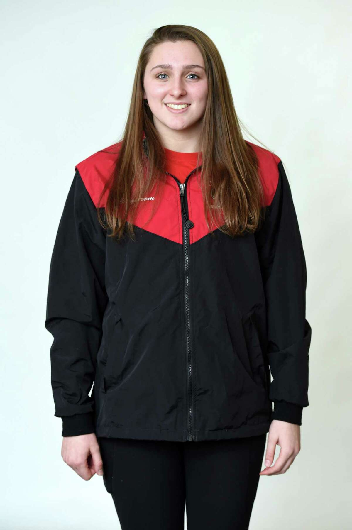 All-Area swimmer Nora Bergstrom of Cheshire High School photographed at the New Haven Register on December 4, 2019.
