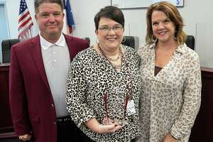 Jamie Youngblood was named the Silsbee Teacher of the Year by the Silsbee Chamber of Commerce.