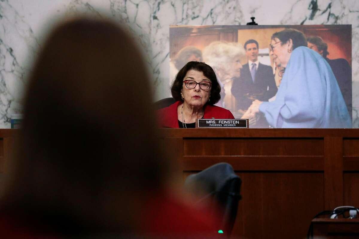 Sen. Dianne Feinstein, D-Calif., questions Supreme Court nominee Amy Coney Barrett.