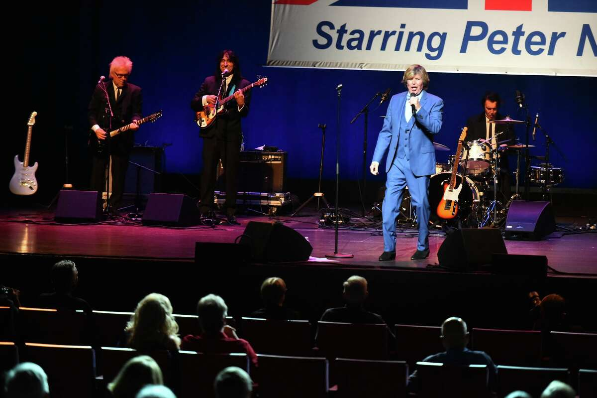 Concertgoers are socially distanced during a Herman's Hermits starring Peter Noone show at the Tobin Center as live music slowly returns to San Antonio venues.
