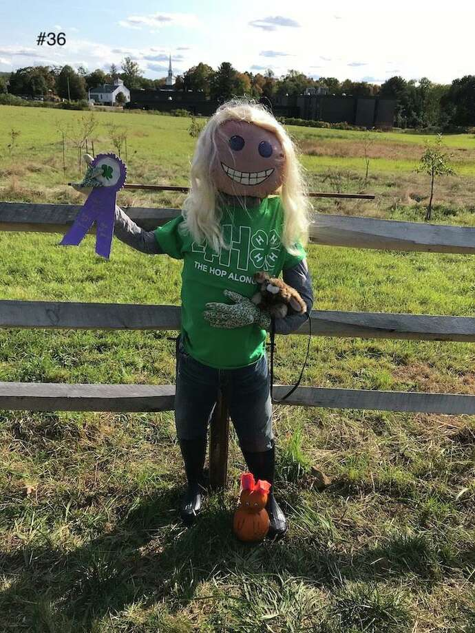 One of the characters inhabiting a fence spot at the Strong Family Farm's 9th Annual Scarecrow Contest. Photo: StrongFamilyFarm.org
