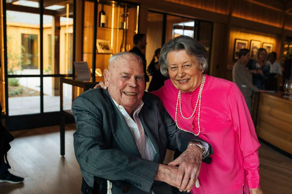 Jack and Dolores Cakebread, co-founders of Cakebread Cellars in Napa Valley, at the opening of their new visitor center in 2019. Dolores Cakebread helped turn the region into a Wine Country destination.