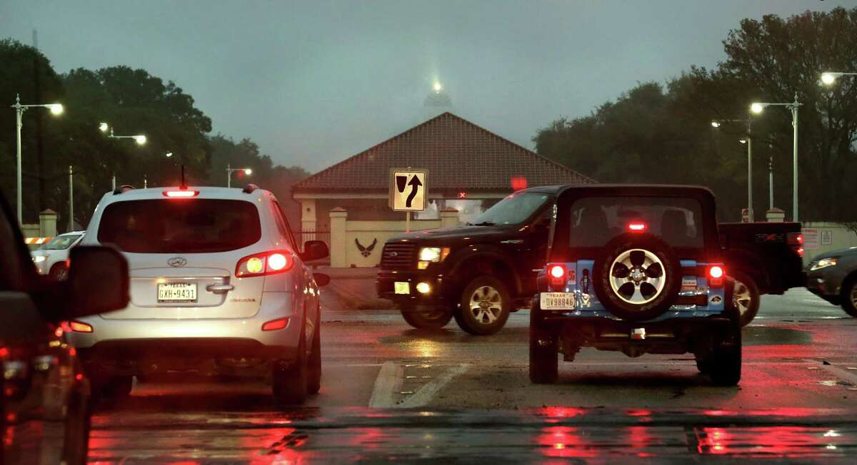 Traffic at the intersection of FM 78 at Pat Booker Rd, on Wednesday.