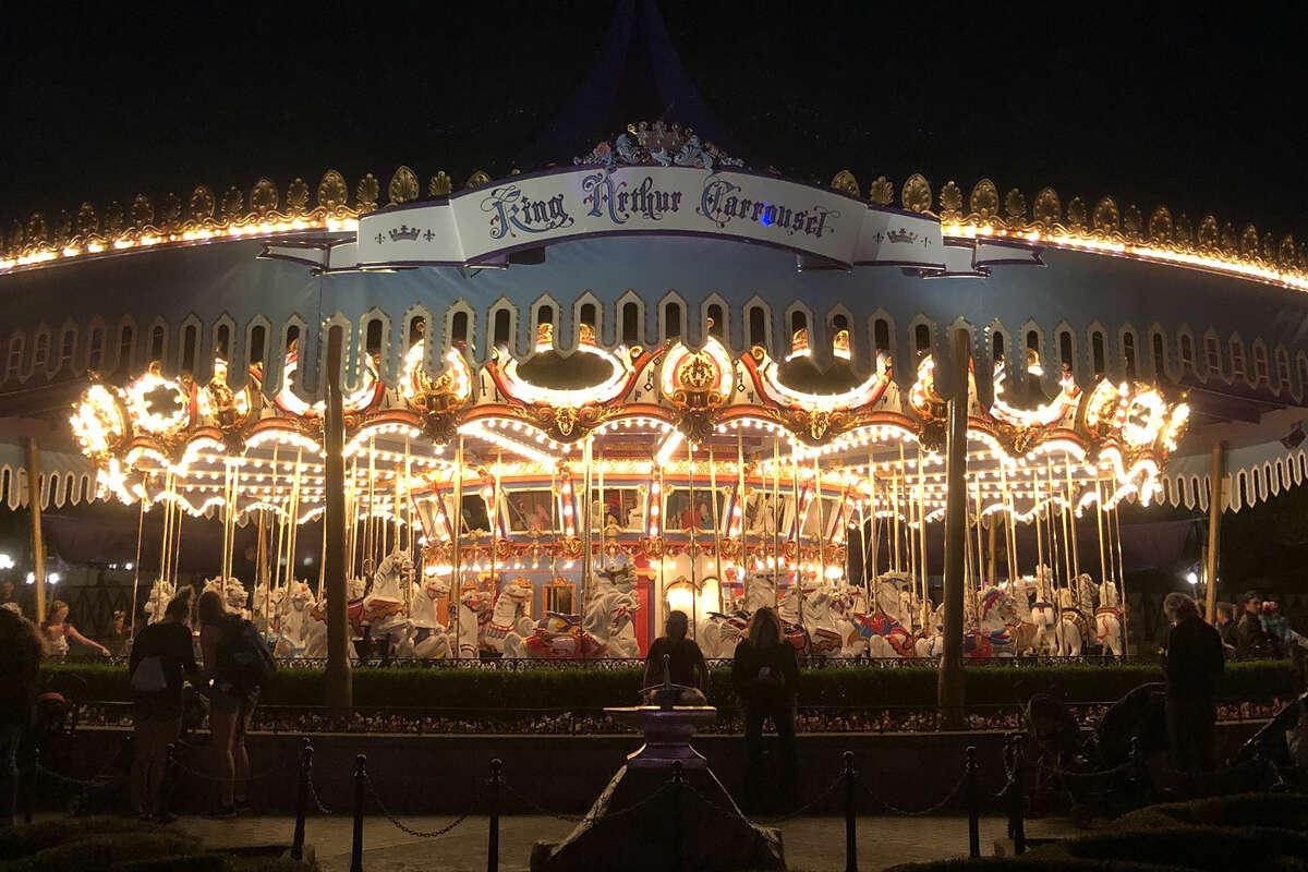 King Arthur's Carousel in Disneyland.