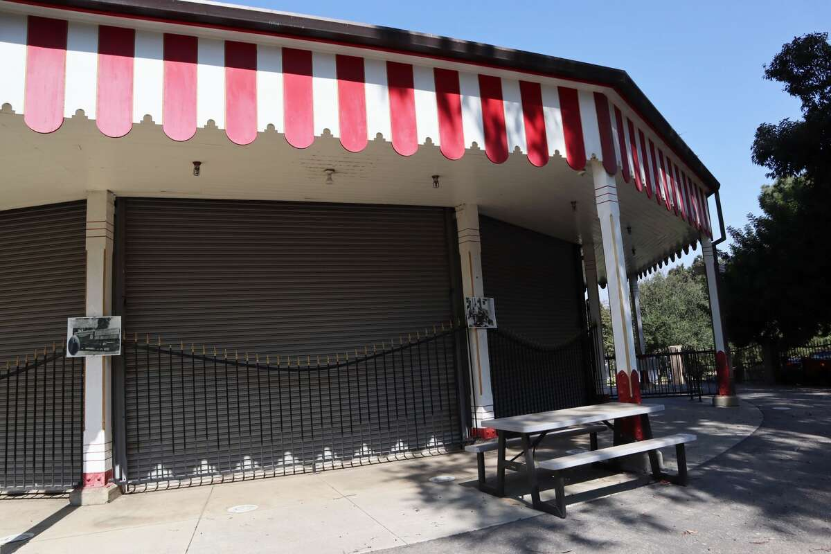 The currently closed carousel in Los Angeles.
