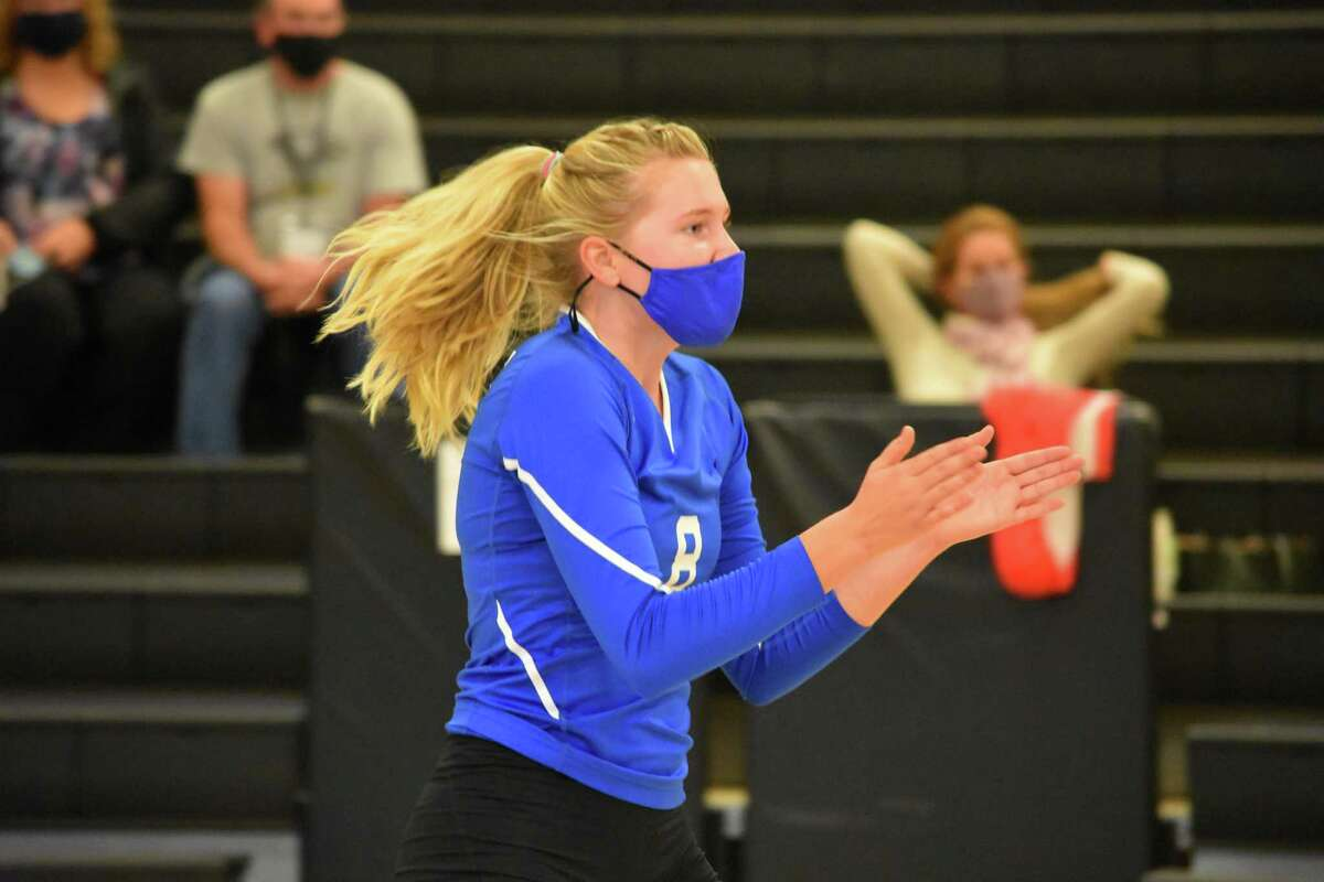 Fairfield Ludlowe's Jane Ransome celebrates against Trumbull on Tuesday at Trumbull High School.