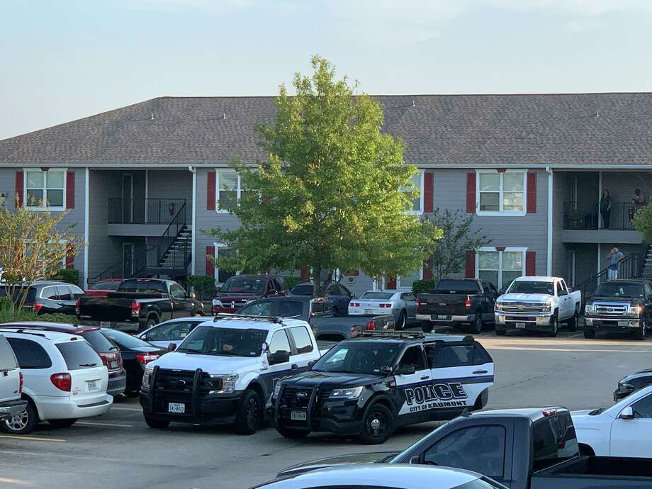 A man was arrested at Cypress Bend Apartments Tuesday after a shooting. Photos by Isaac Windes / Beaumont Enterprise Photo: Isaac Windes