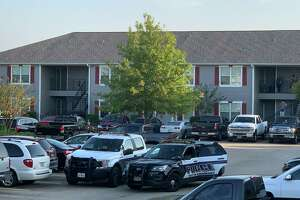 A man was arrested at Cypress Bend Apartments Tuesday after a shooting. Photos by Isaac Windes / Beaumont Enterprise