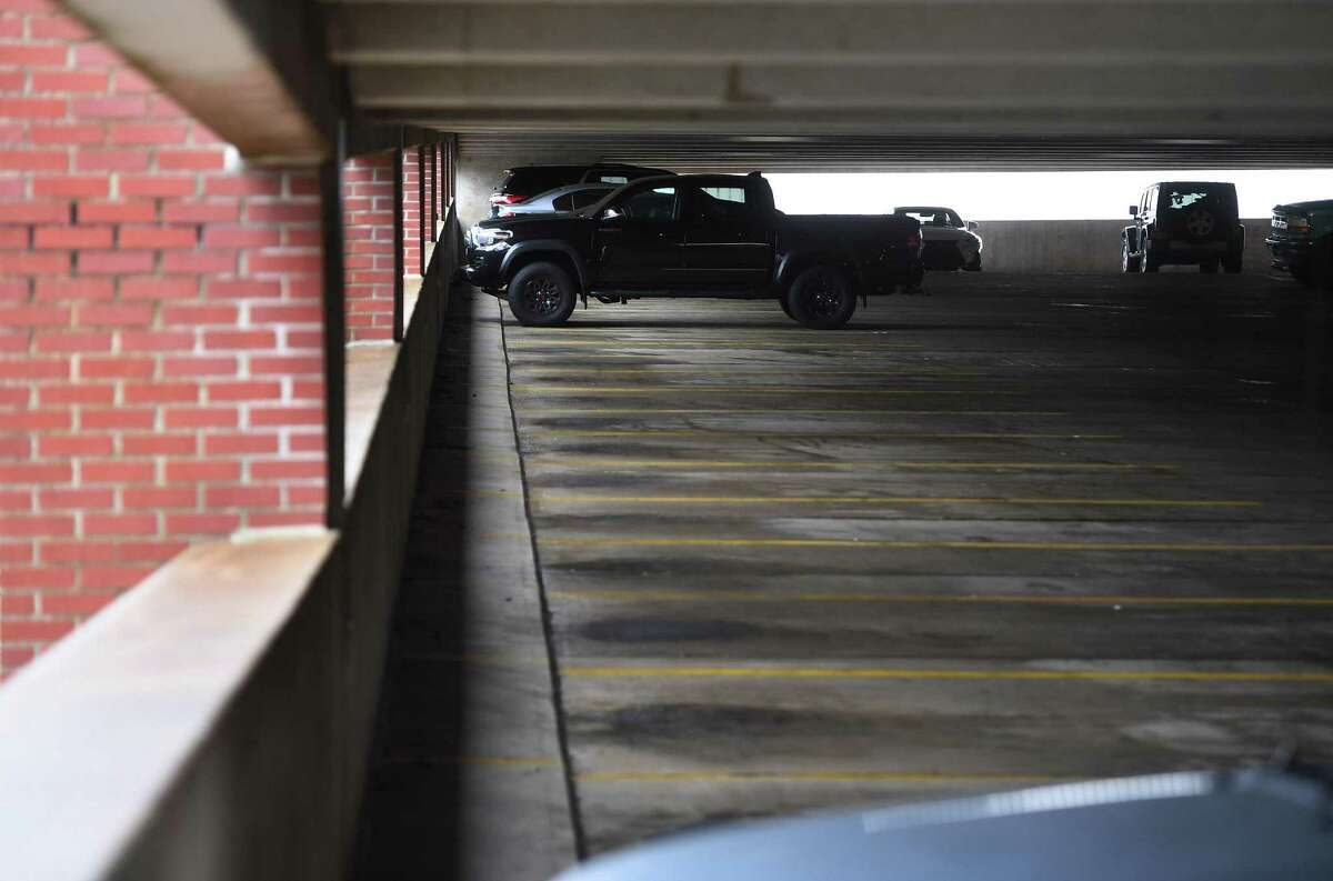 The Terence McNally Patriot Garage on Delay Street in Danbury, Conn. on Tuesday, October 13, 2020. The city has seen a large decline in parking revenue during the pandemic.