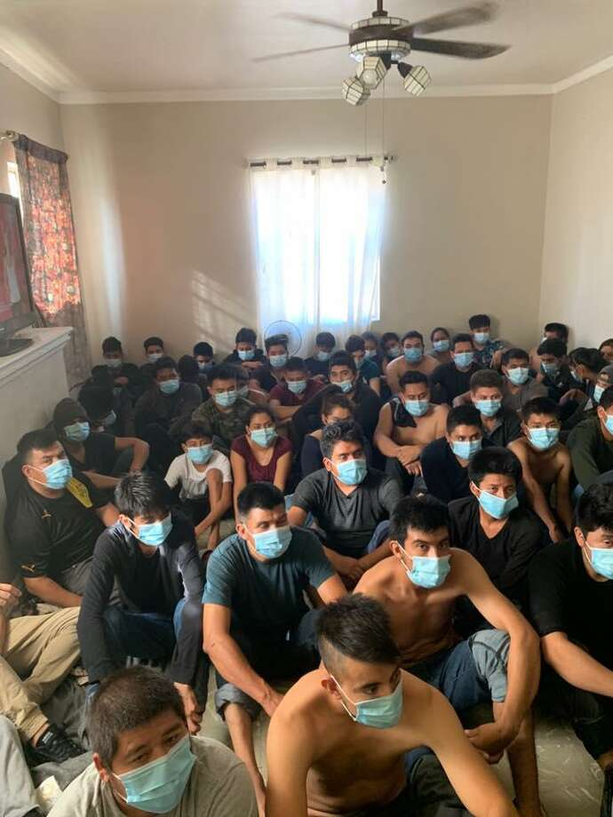 The Webb County Sheriff's Office along with U.S. Border Patrol agents discovered on Tuesday more than 120 people inside a stash house located in the Las Lomas neighborhood in central Laredo. Photo: Courtesy Photo /Webb County Sheriff's Office