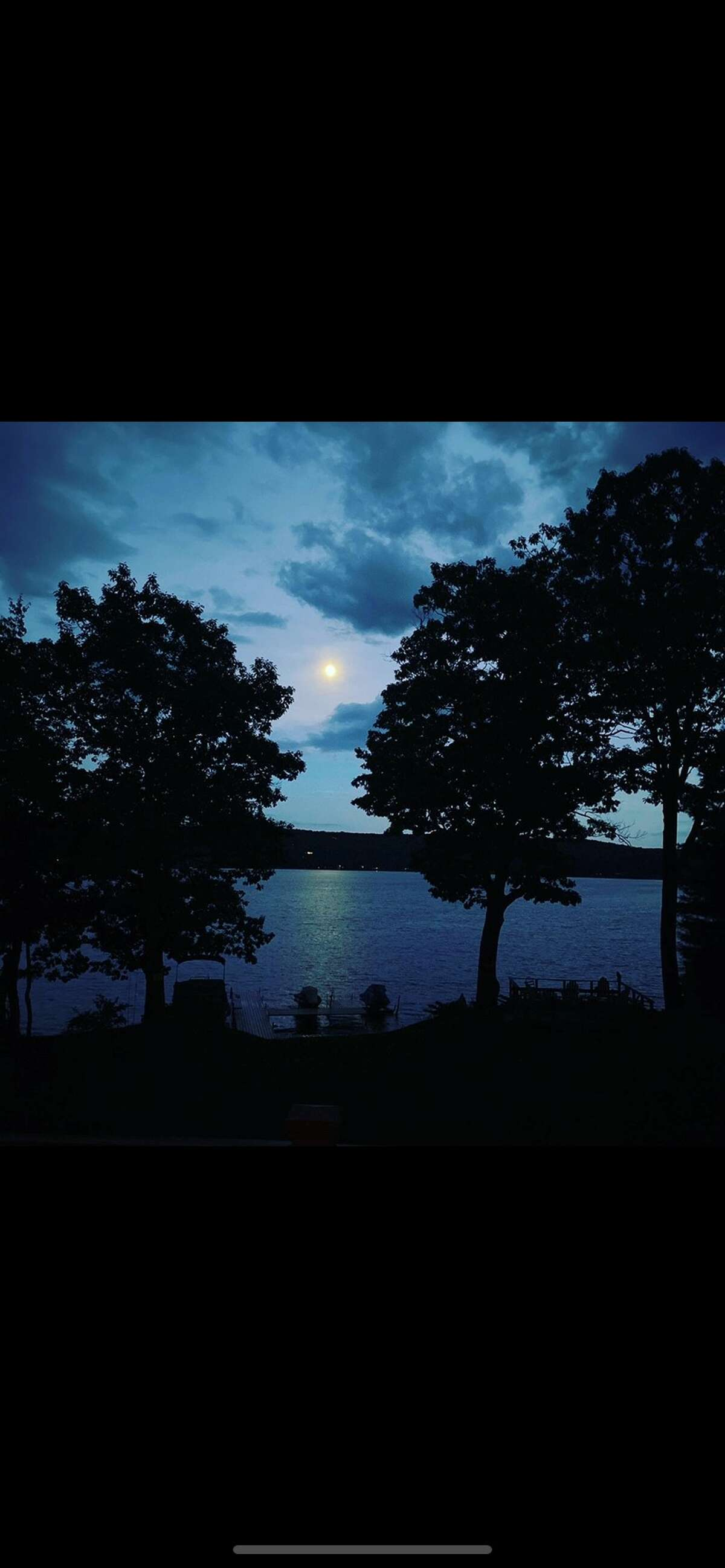 Full moon over Copake Lake, by Enzo Carlucci of Rensselaer