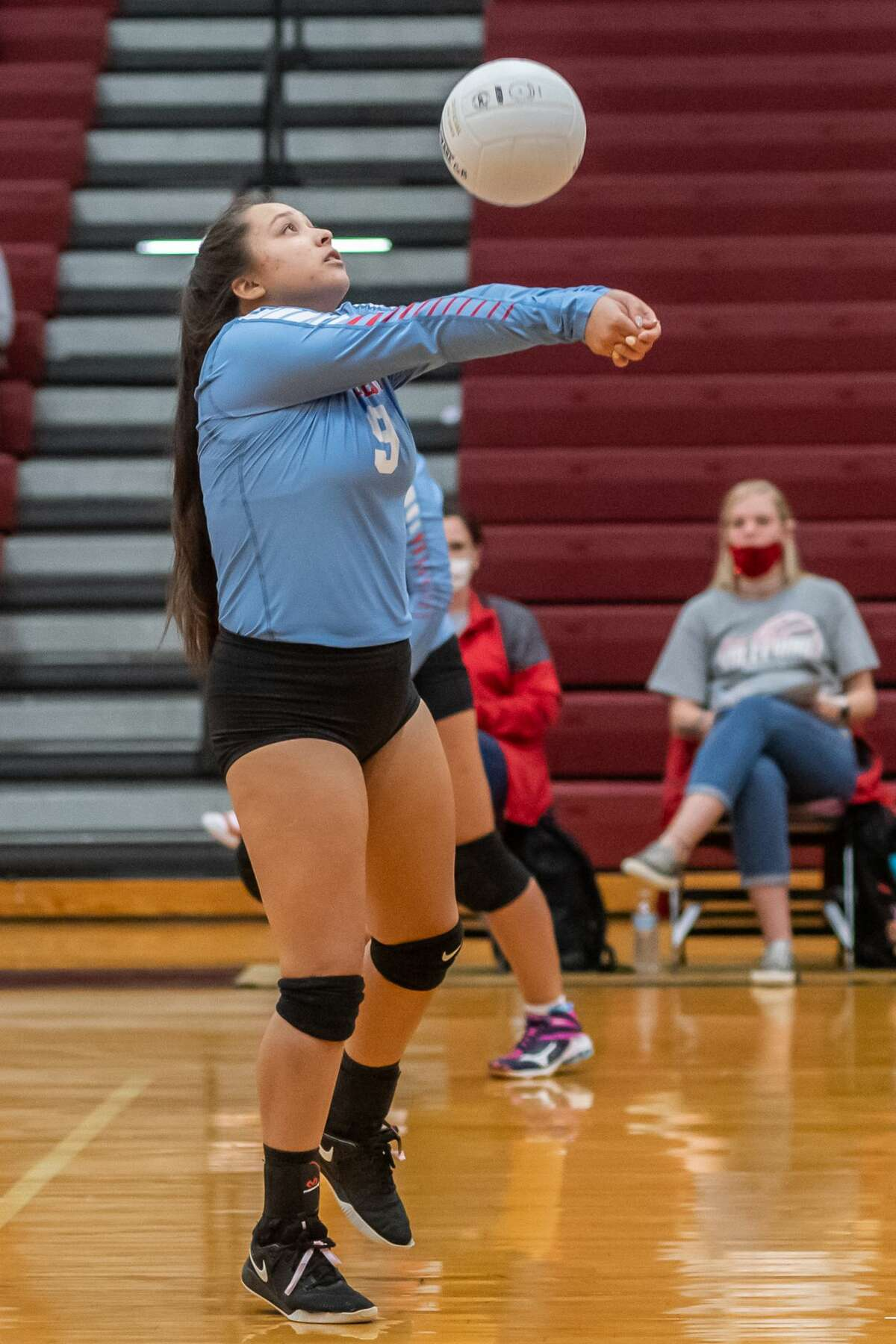 The Lumberton Lady Raiders volleyball team traveled up the road to take on the Lady Tigers of Silsbee. Photo made on October 13, 2020. Fran Ruchalski/The Enterprise