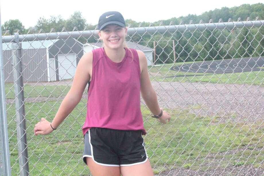 Pine River's Ellie Rigling is in her sophomore season. (Pioneer photo/John Raffel)