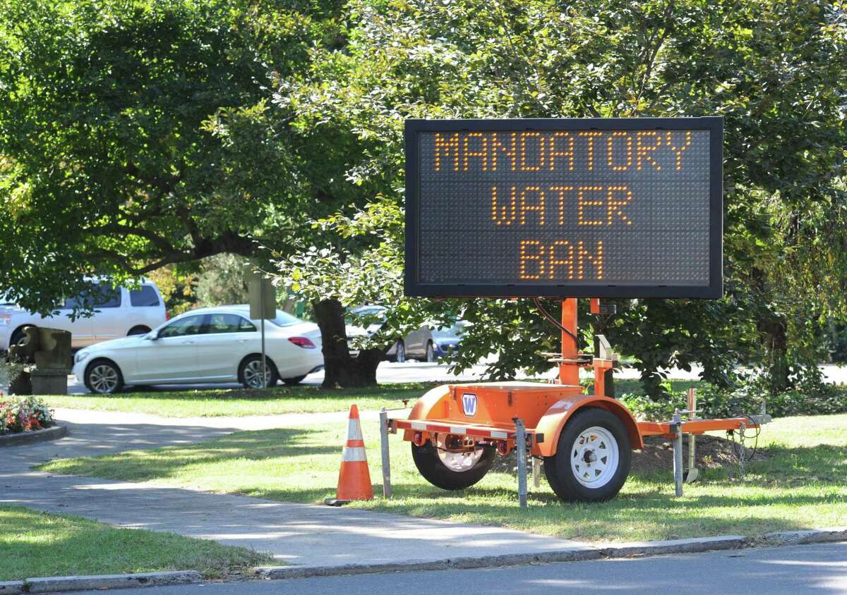 Aquarion Water Company has announced an irrigation ban for Darien, Greenwich, New Canaan, Stamford and Westport.