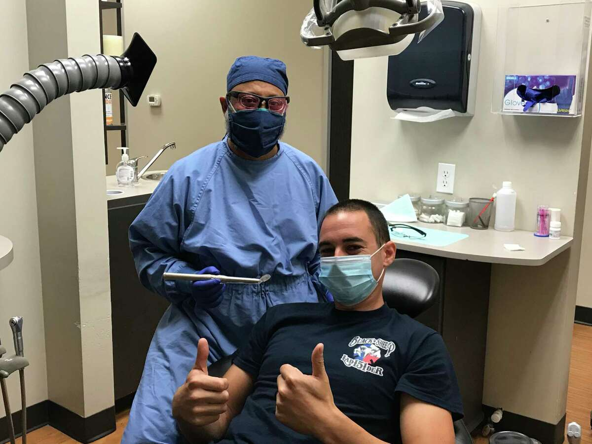 Recently, Porter Family Dentistry began offering free oral cancer screenings for firefighters in the county as a way to give back. The dental office plans on making it an annual tradition. Dr. Mustafa Yamani, pictured here, was inspired to help firefighters after seeing so many of them fly across the country to help put out fires in California, where he went to school.